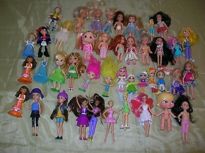Dolls Mix Lot of smaller size dolls lot of 42 pc