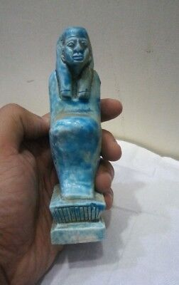 RARE ANCIENT EGYPTIAN ANTIQUE USHABTI QUEEN  Stone Statue 1932-1735 BC