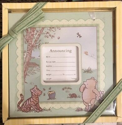 "*Classic Pooh A Bear and His Things ""Birth Announcement"" Frame #53494"