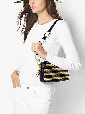 90302fb811486a NWT MICHAEL KORS COLLECTION Julie Small Studded chain Leather Bag R$1250