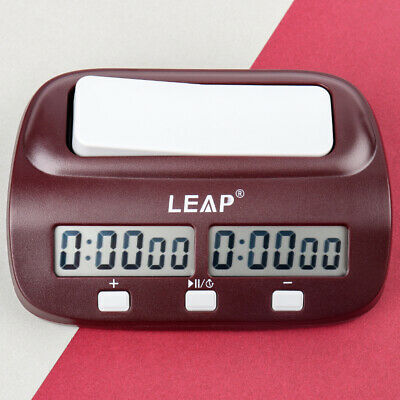 Digital Chess Clock Timer Count Up Down Countdown Timing with Bonus Time PQ9907S