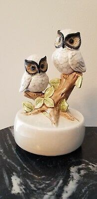 "Otagiri Music Box OWLS Windup Vintage 1979 ""Some Enchanted Evening"""