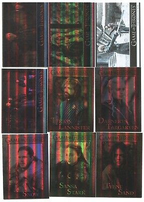 2018 Game of Thrones Season 7 81 card parallel foil base set