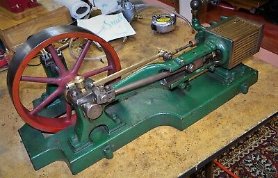 1/2 HP Sipp Live Steam Engine as in 1895 Catalog hit miss engine Runs Great