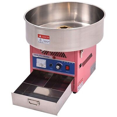 Electric Cotton Candy Machine Floss Maker Commercial Carnival Fluffy Sugar Pink