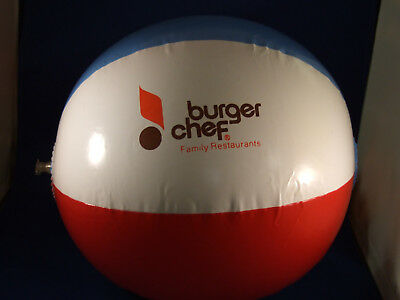 Vintage BURGER CHEF inflatable beach ball from 1970-1972