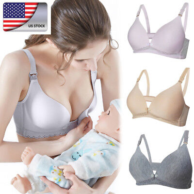 US Pregnant Women's Maternity Bra Breastfeeding Feeding Nursing Underwear Bras