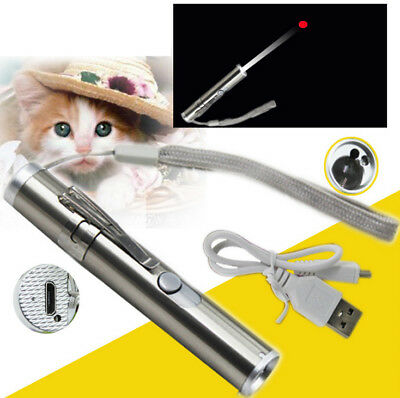 3 in 1 Chaser Cat Toy Pet Cat USB Rechargeable USB LED Light Pointer toy AU