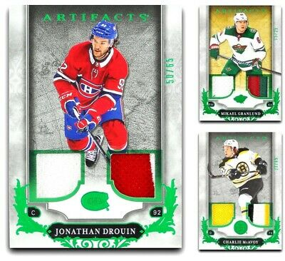 2018-19 Artifacts Emerald Jersey Patch **** PICK YOUR CARD **** From The LIST