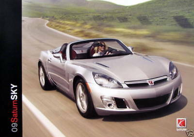 NEW 2009 Saturn SKY PREMIUM SALES BROCHURE Never Cracked Opened AUTOSHOW QUALITY