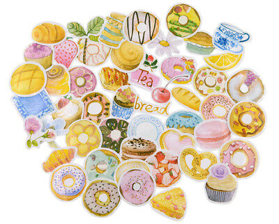 50 pieces sweet treats die-cuts Stickers Pack for junk bullet journal notebook