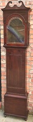 Beautiful Antique Scottish Mahogany Long Case Grandfather Clock Case