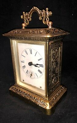 Antique ANSONIA CLOCK Co New York USA Carriage Mantel Clock with Alarm