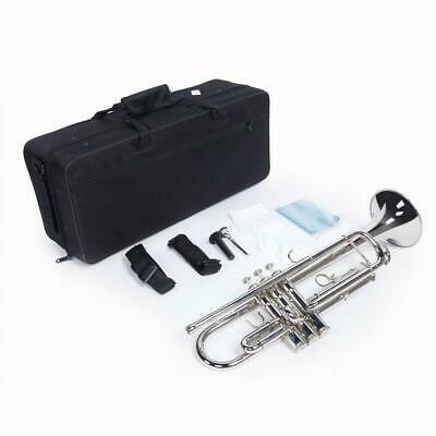 New School Band Nickel Plated Silver Bb Trumpet w/Case for Student