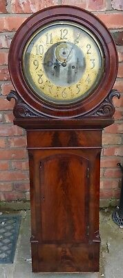 Stunning Antique Mahogany Act Of Parliament Tavern Norwich Wall Clock Brass Dial