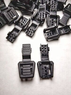 Lot of 20 Black Zipper Pull Cord Ends for Paracord