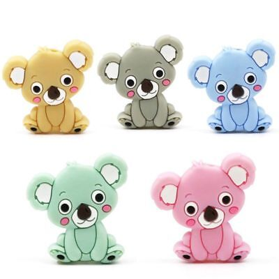 Silicone Bead Animal Cute Teether Teething Safe Baby Care Necklace Jewelry Toy