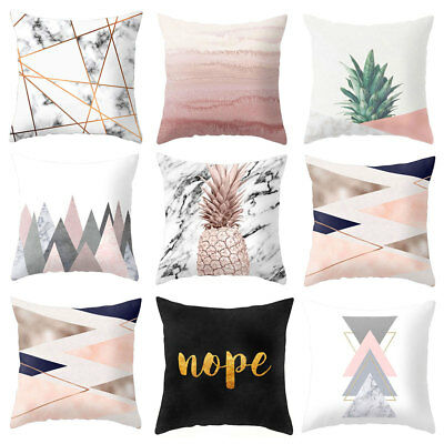 Home Decorative Pillow Case Sofa Waist Cushion Cover Fashion Square Oreiller New