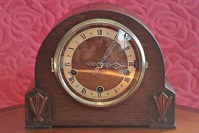 Vintage English 'Smiths' 8-Day Mantel Clock with Westminster Chimes