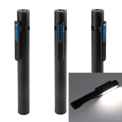 LED Light Emergency Inspection USB Charging Work Flashlight With Magnetic Pen AU