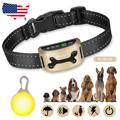Anti Bark Collar Rechargeable No Barking Pet Training Humane Vibration Collar