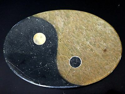 Ancienne plaque marbre YING et YANG Old marble chinese taoist religious