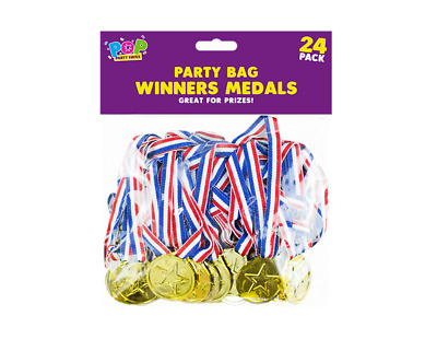 Kids Gold Medals- Sports Day Party Bag Prizes Olympic Fun Games Stocking