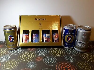 AUSTRALIAN COLLECTABLE BEER and WINE. 2000 SYDNEY OLYMPICS FOSTER'S & LINDEMANS
