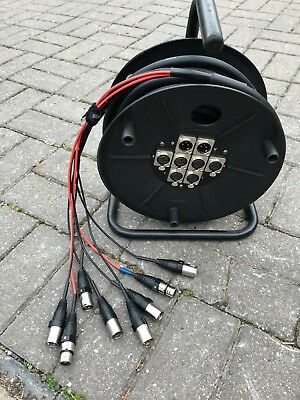 Stage 6/2 Xlr Multicore Sub Snake Multi Core Stagebox 15M Cable Drum