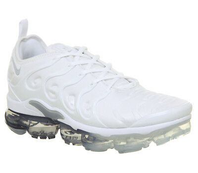 new concept 4f5c5 ce28d NIKE AIR VAPORMAX Plus White Pure Platinum Wolf Grey UK 7 NEW Off White TN