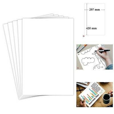 "Opaque White A3 White Card Stock Paper Size 50 Sheets Per Pack 11"".7 X 16.5 New"