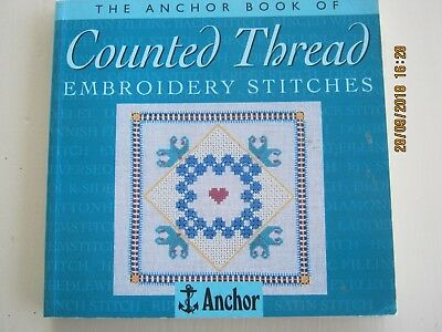 Anchor Book COUNTED THREAD Embroidery Stitches Evenweave Fabric Canvas linen