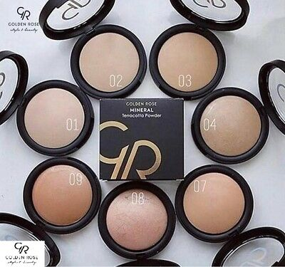 Golden Rose Mineral Terracotta Powder Different Colours Excellent Coverage