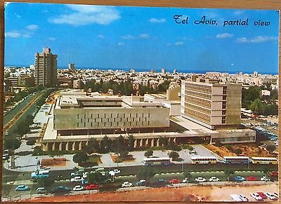 Old Colour Postcard Tel Aviv Courts of Justice King Shaul Avenue 1977 Cars