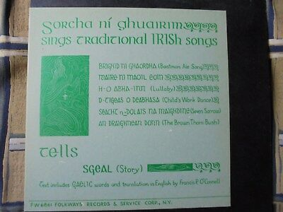 Sorcha ni Ghuairim  sings traditional Irish Songs 1966 FW 6861