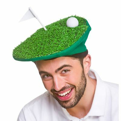 Adults Funny Golf Hat Green Novelty Sport Fancy Dress Stag Night Hen Party 73d7de1ff30