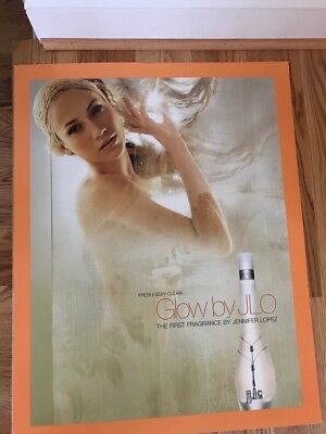 JENNIFER LOPEZ Glow By JLO Perfume POSTER cosmetics makeup singer fashion actres