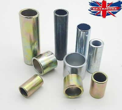 Steel Metal Bush Spacer Sleeve Distance Tube Round Various Size Through Hole
