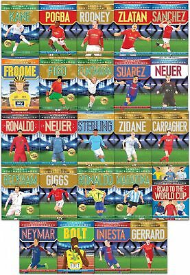 Ultimate And Classic Football Heroes Series Collection 24 Books Set Gift Pack