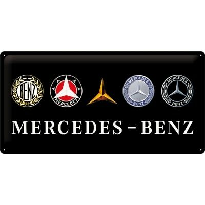 Nostalgic-Art - Blechschild 25 x 50 cm – Mercedes-Benz - Logo Evolution