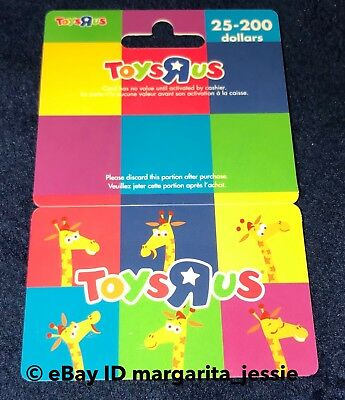 Toys R Us Gift Card Geoffrey The Giraffe Mascot Rainbow Colors  No Value New