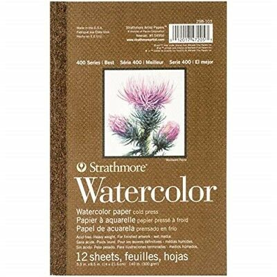 "Strathmore Str-298-103 12 Sheet Acid Free Watercolor Paper, 5.5 By 8.5"" - Paper"