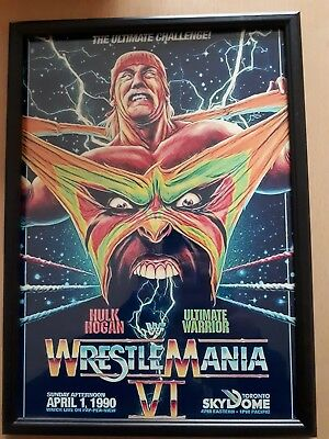 Wwf Wwe Wrestlemania 6 Hulk Hogan Ultimate Warrior A4 Print 230Gsm Poster...