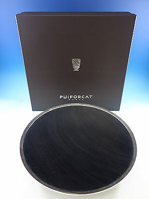 """Puiforcat Mahogony Sterling Silver Large Table Centerpiece Bowl New In Box 19"""""""