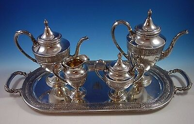 Wedgwood by International Sterling Silver Tea Set 5pc (#1640)