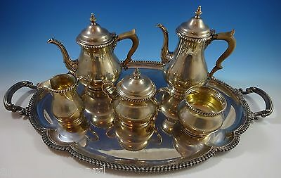 Kensington by Gorham Sterling Silver Tea Set 6pc with D Monogram (#1188)