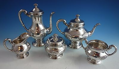 Onslow by Tuttle Sterling Silver Tea Set 5pc Hand Chased #1835 (#1560)