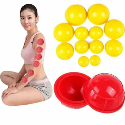 12Pcs/Set Silicone Medical Vacuum Massager Cupping Cups Therapy Anti Cellulite