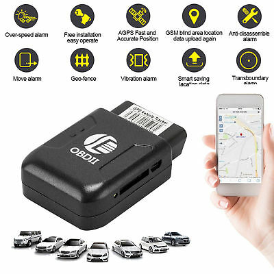 Car Tracker Device >> Mini Car Tracker Vehicle Obdii Obd2 Gps Global Realtime Gsm Gprs Tracking Device