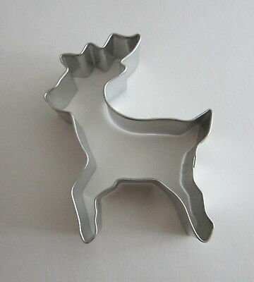 """4"""" Reindeer Rudolph Tin Plated Steel Fondant R&M Cookie Cutter Christmas Party"""